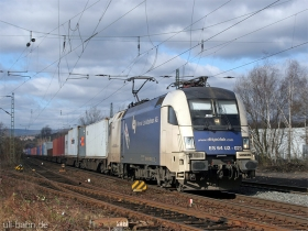 Siemens Dispolok / WLB | ES64U2 023 | Wiesbaden-Biebrich | 15.02.2007 | (c) Uli Kutting