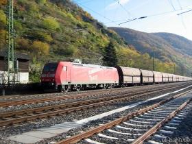 "DB | 185 002-3 | Eigenwerbung ""Bombardier TRAXX"" | Kaub | 16.11.2006 | (c) Uli Kutting"