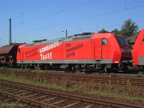 "DB | 185 003-1 | Eigenwerbung ""Bombardier TRAXX"" | 182 067-5 | Gau-Algesheim | 6.09.2006 | (c) Uli Kutting"
