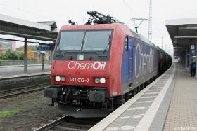 "SBB cargo | Re 482 012-2 | ""ChemOil"" | Koblenz Hbf | 27.10.2015 | (c) Uli Kutting"
