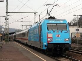 "DB AG | 101 016-4 | Werbelok ""unicef"" | Oberlahnstein | 23.03.2010 | (c) Uli Kutting"