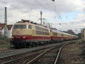 DB | 103 184-8 | Sonderzug mit Domecar | Wiesbaden-Biebrich | 02.03.2007 |  (c) Uli Kutting