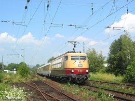 DB | 103 235-8 | mit Messzug | Wiesbaden-Biebrich | 21.07.2006 | (c) Uli Kutting