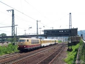 DB | 103 235-8 | mit Messzug | Bingerbrück | 21.07.2006 | (c) Uli Kutting