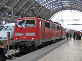 DB AG | 111 086-5 | Frankfurt Hbf | 16.01.2008 | (c) Uli Kutting