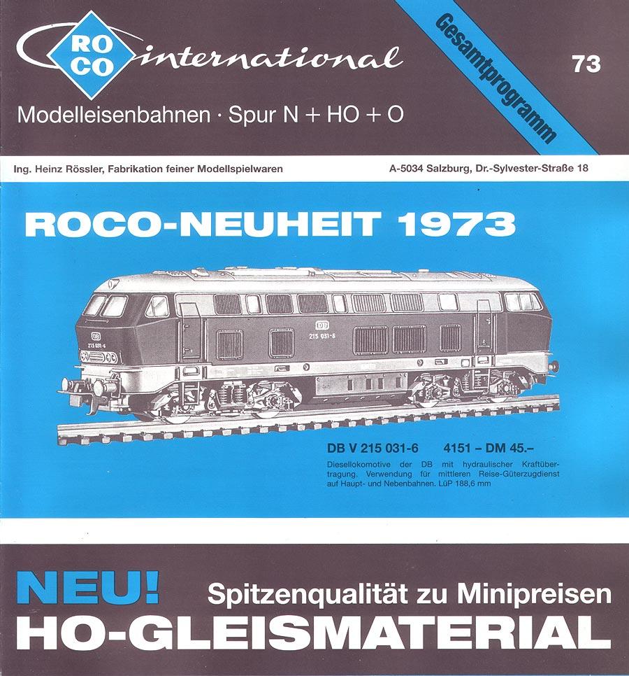 ROCO | 1973 | N, H0e, H0, 0 | 12 Seiten | (c) ROCO