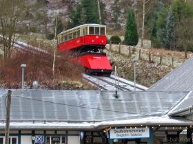Oberweißbacher Bergbahn | Bergbahn | Güterbühne und Aufsatzwagen | Obstfelderschmiede | 30.12.2006 | (c) Uli Kutting